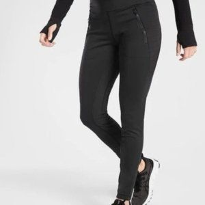 Athleta Peak Hybrid Fleece Tights size S Black
